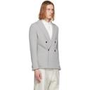 Giorgio Armani Grey Wool and Viscose Mirage Blazer