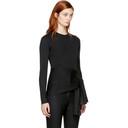 3.1 Phillip Lim Black Lurex Waist Tie Pullover