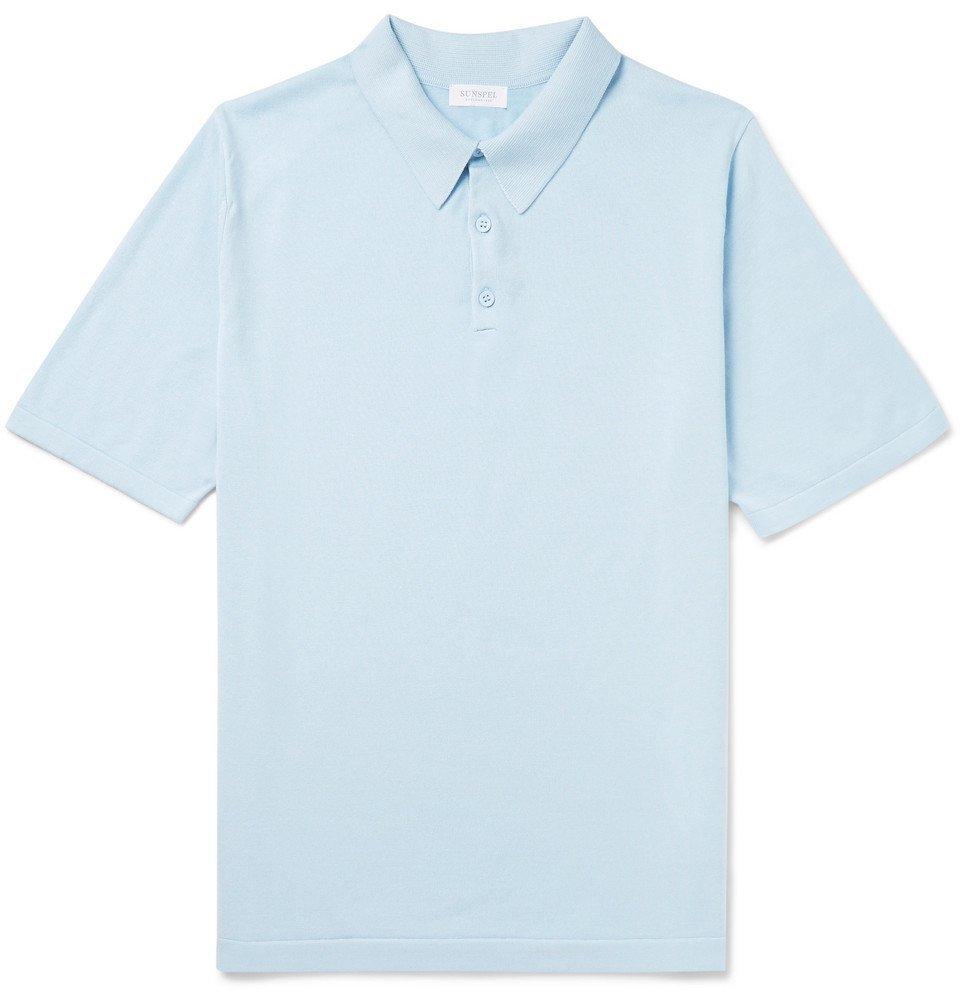Sunspel - Sea Island Cotton Polo Shirt - Men - Blue