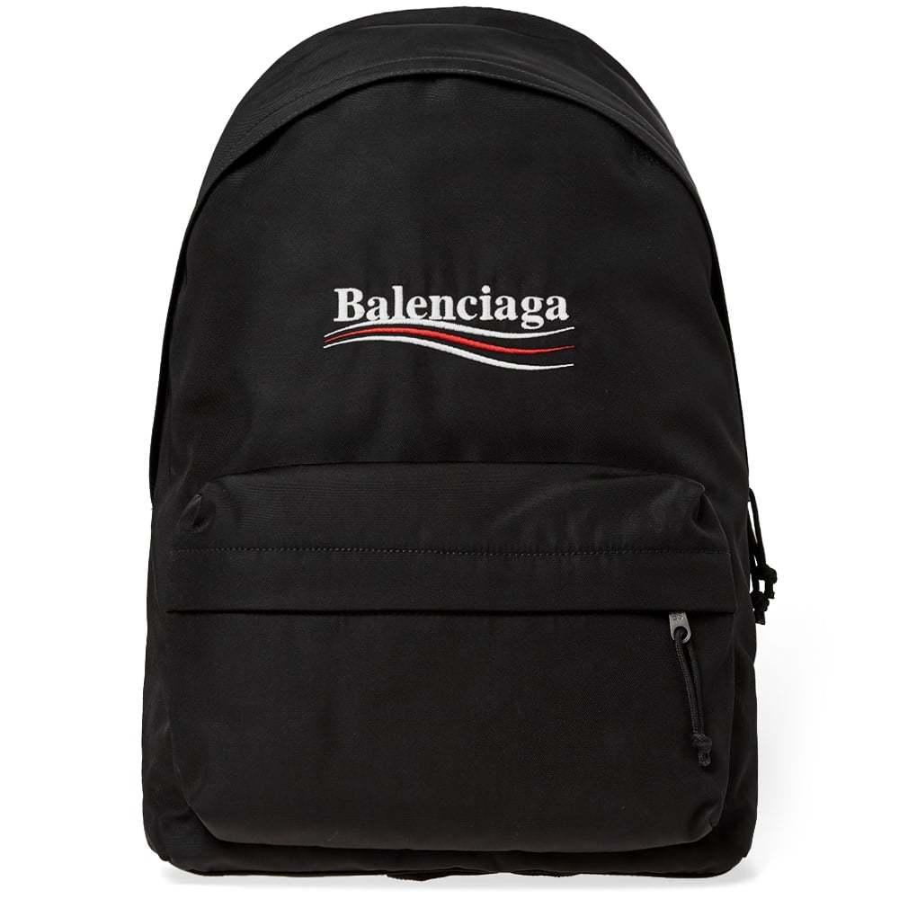 Photo: Balenciaga Political Campaign Logo Nylon Backpack