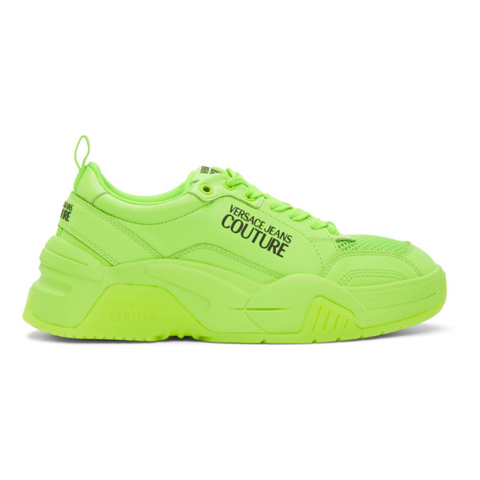 Photo: Versace Jeans Couture Green Logo Low-Top Sneakers