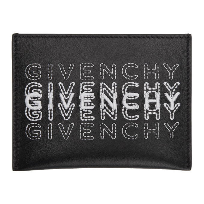 Photo: Givenchy Black Embroidered Logo Card Holder
