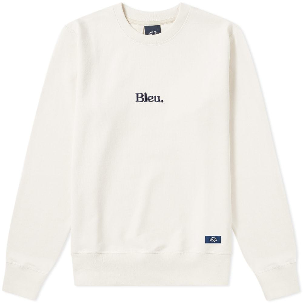 Photo: Bleu de Paname Bleu. Embroidered Logo Crew Sweat