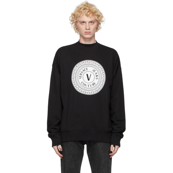 Photo: Versace Jeans Couture Black Logo Crewneck