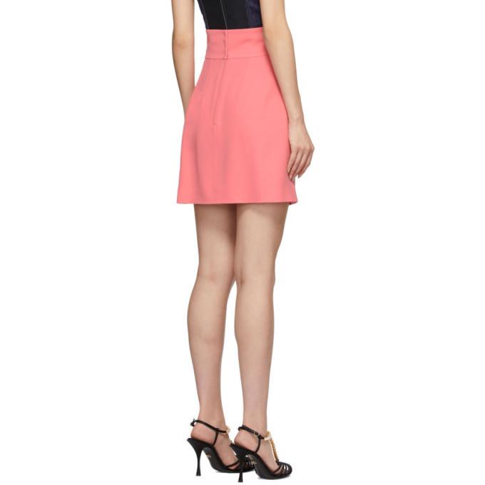 Dolce and Gabbana Pink Silk Crepe Miniskirt