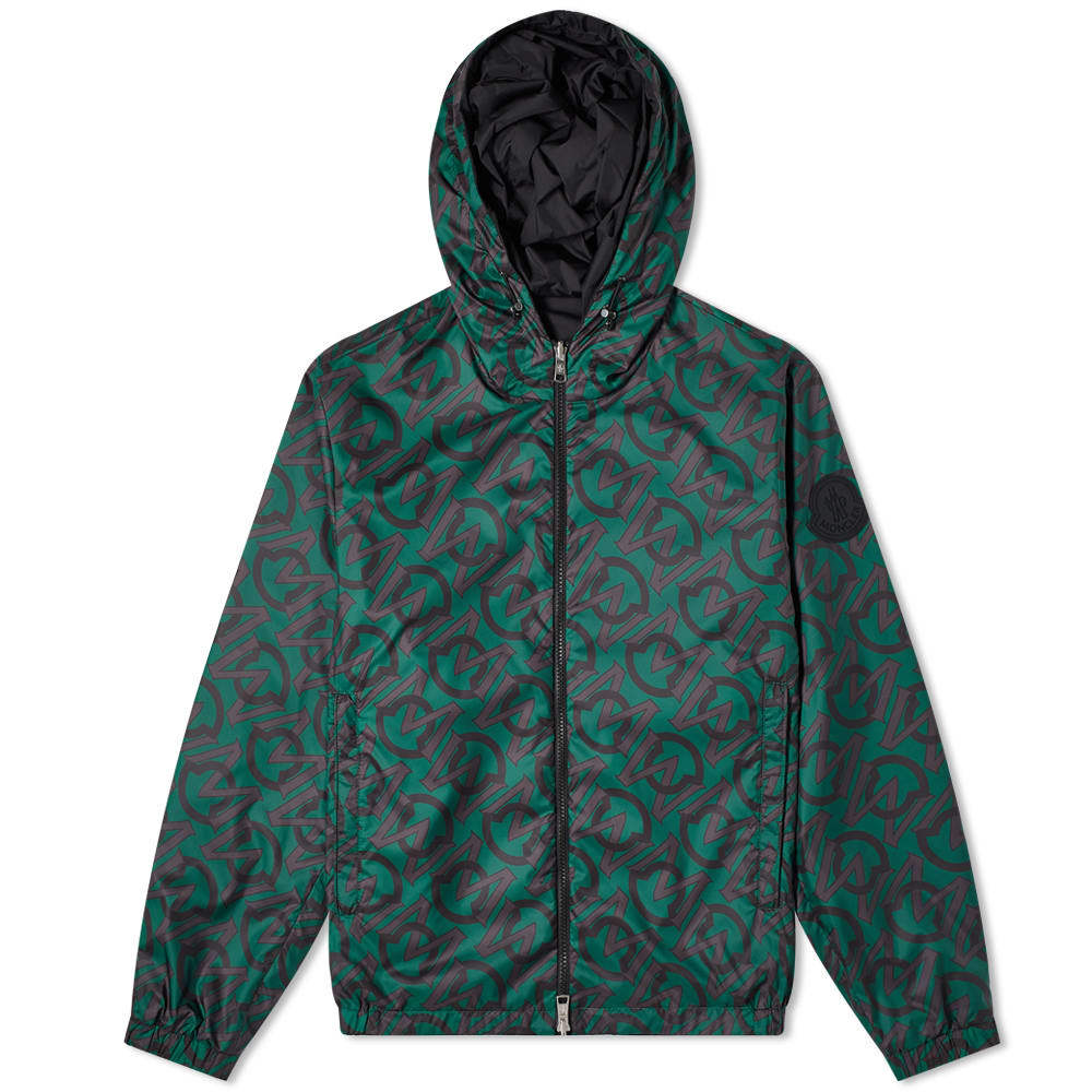 Photo: Moncler Cretes All Over Logo Print Reversible Windbreaker
