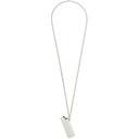 1017 ALYX 9SM Silver Lighter Case Necklace