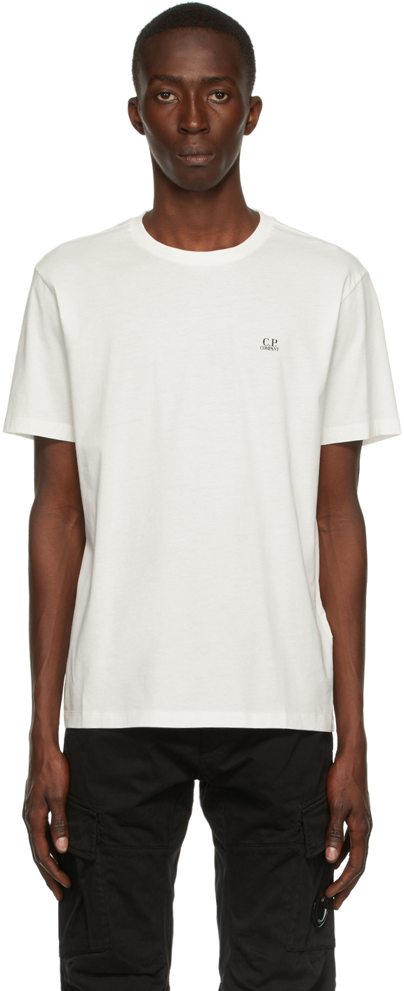 Photo: C.P. Company Off-White 30/1 Logo T-Shirt