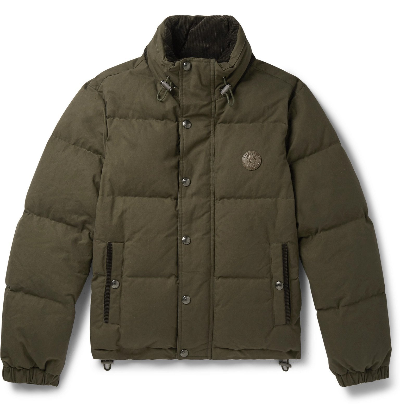Photo: Belstaff - Aviation Quilted Cotton-Canvas Down Jacket - Green
