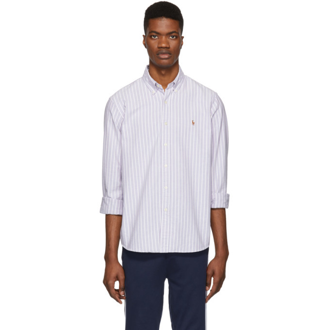 Photo: Polo Ralph Lauren Purple and White Striped Oxford Shirt