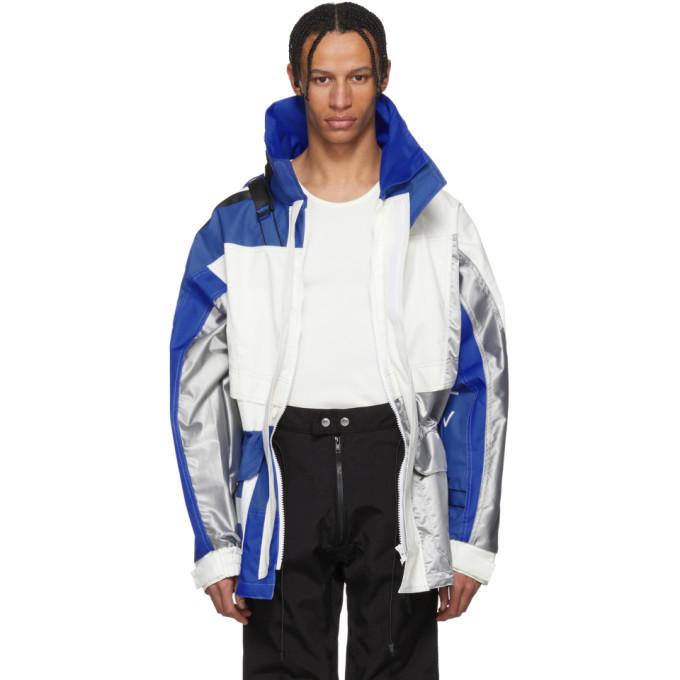 GmbH Blue and White Helly Hansen Edition Jeenu Anorak Coat