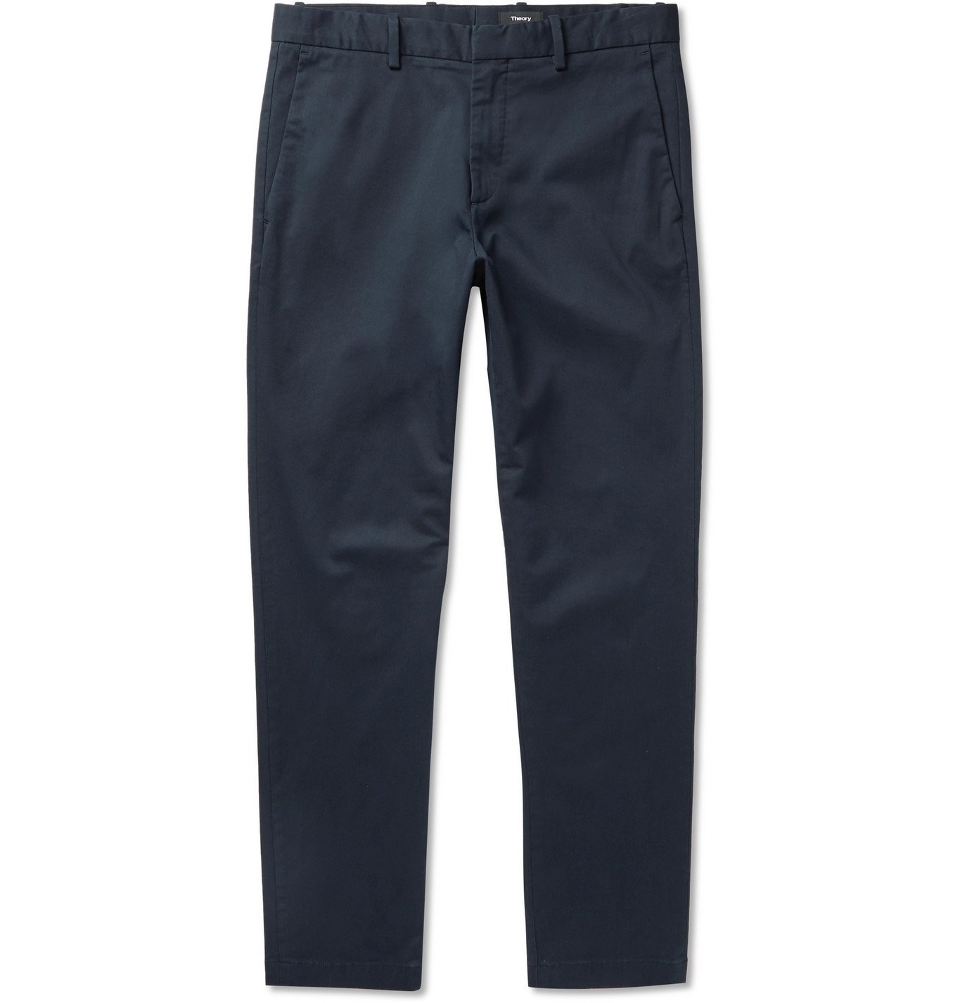Photo: Theory - Curtis Tapered Cotton-Blend Chinos - Blue