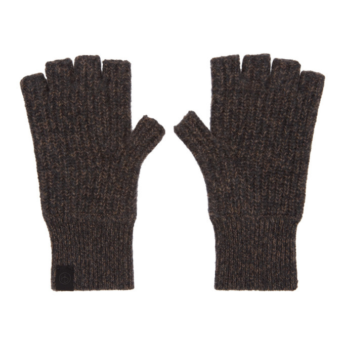 Photo: rag and bone Brown Ace Cashmere Mitts