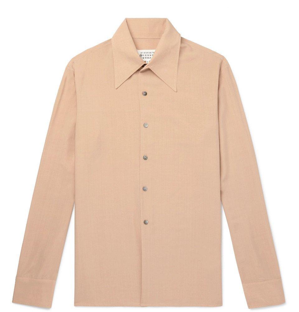 Photo: Maison Margiela - Slim-Fit Poplin Shirt - Beige