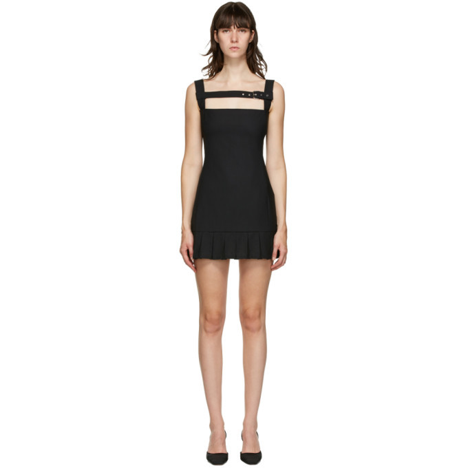 Photo: Coperni Black Buckle Pleat Dress