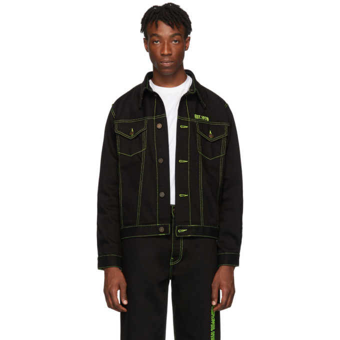 Photo: Calvin Klein Jeans Est. 1978 Black Trucker Jacket