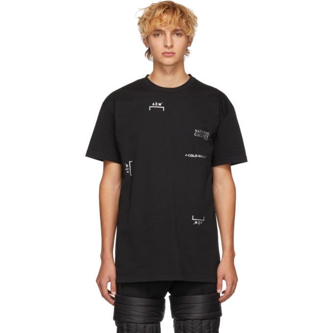 Photo: A-Cold-Wall* Black National Gallery Multi Logo T-Shirt