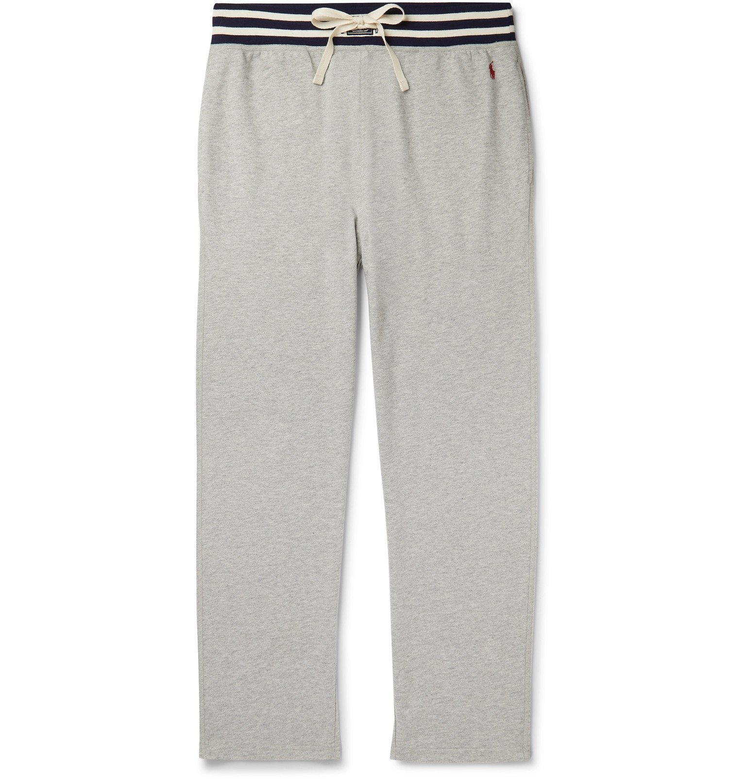 Photo: Polo Ralph Lauren - Striped Loopback Cotton-Blend Jersey Pyjama Trousers - Gray