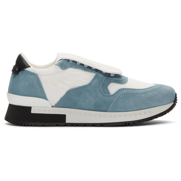 Photo: Givenchy White and Blue Active Runner Sneakers