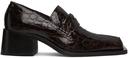 Martine Rose Brown Croc Bagleys Loafers
