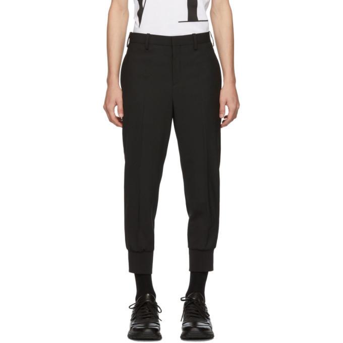 Photo: Neil Barrett Black Rib Cuff Tailored Trousers