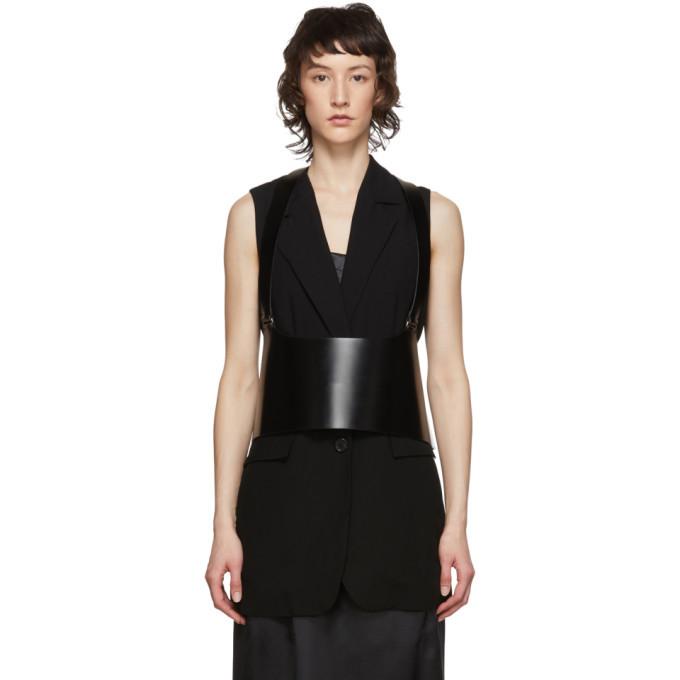Photo: Ann Demeulemeester Black Leather Suspender Corset