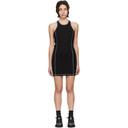 MCQ Black Rib Slouchy Sleeveless Dress