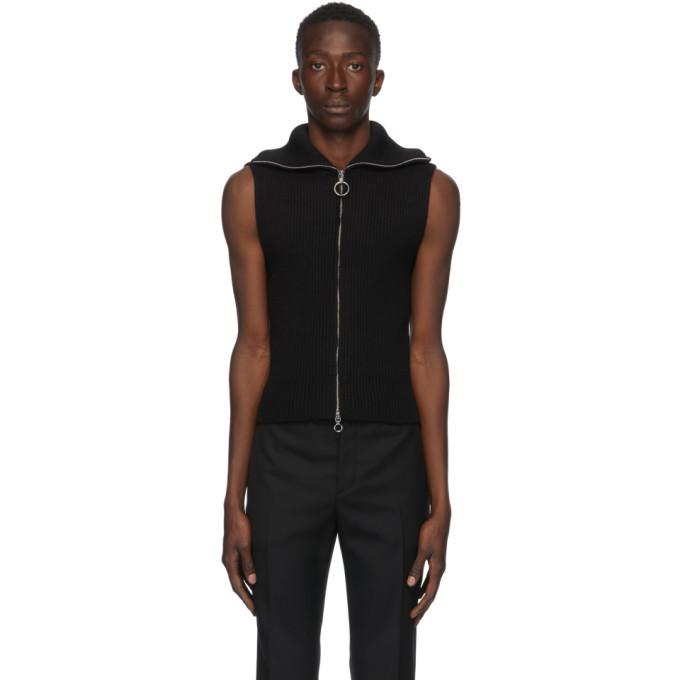 Photo: Paco Rabanne Black Wool Knit Vest
