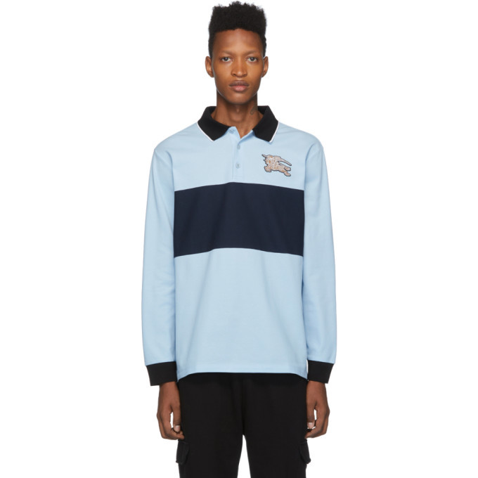 Photo: Burberry Blue Logo Cooper Polo