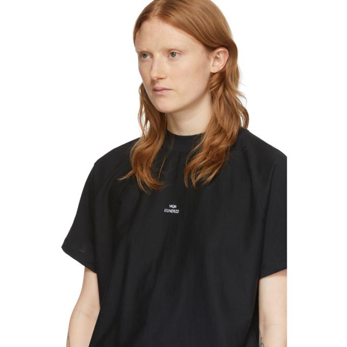 Won Hundred Black Logo Brooklyn T-Shirt
