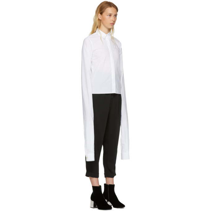 Cheap 2018 Unisex White Parachute Poplin Extra Long Sleeve Shirt Maison Martin Margiela Outlet Best Seller Visa Payment Cheap Price YLbtgcfe9