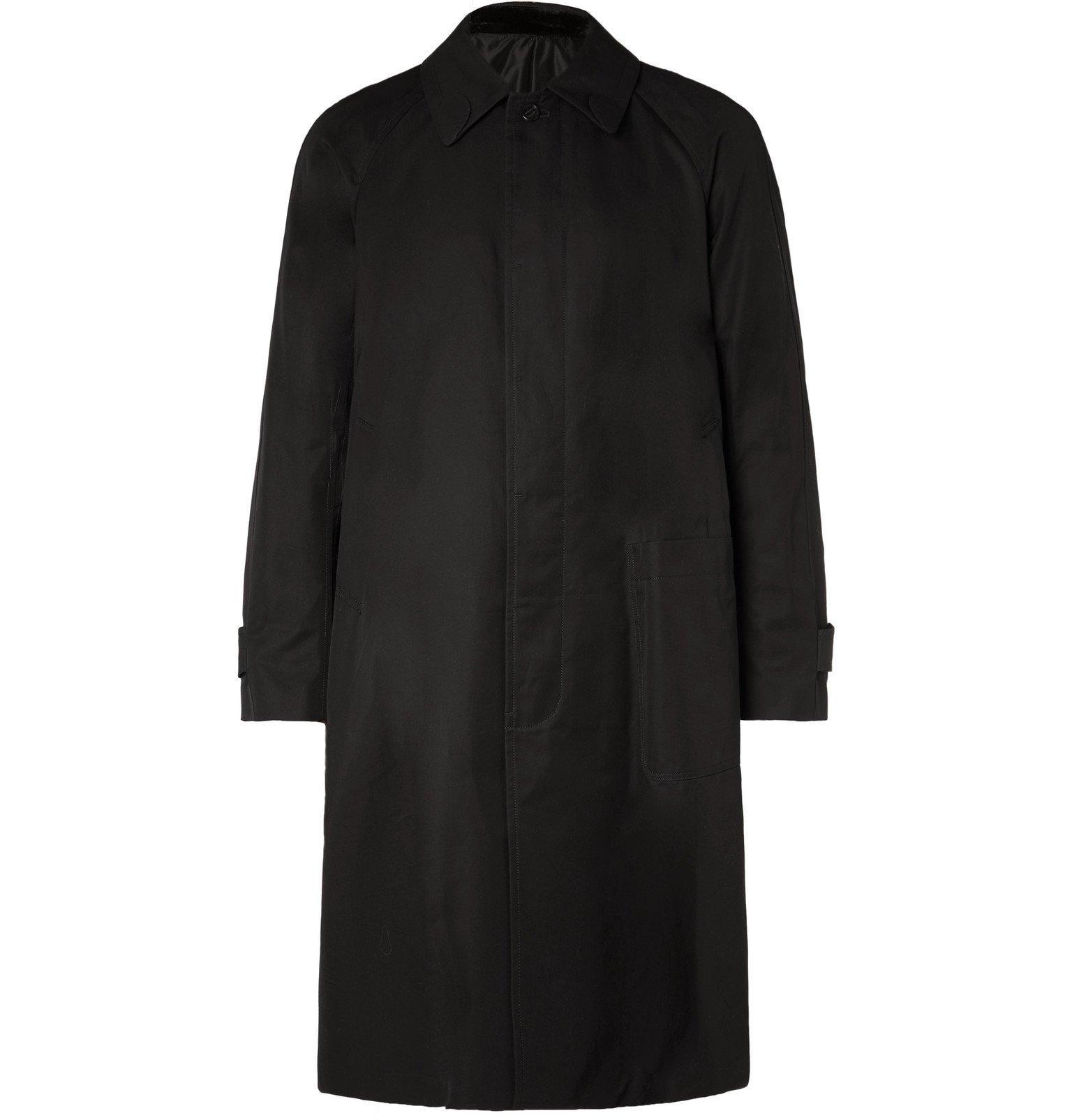 Photo: TAKAHIROMIYASHITA TheSoloist. - Appliquéd Cotton-Gabardine Trench Coat - Black