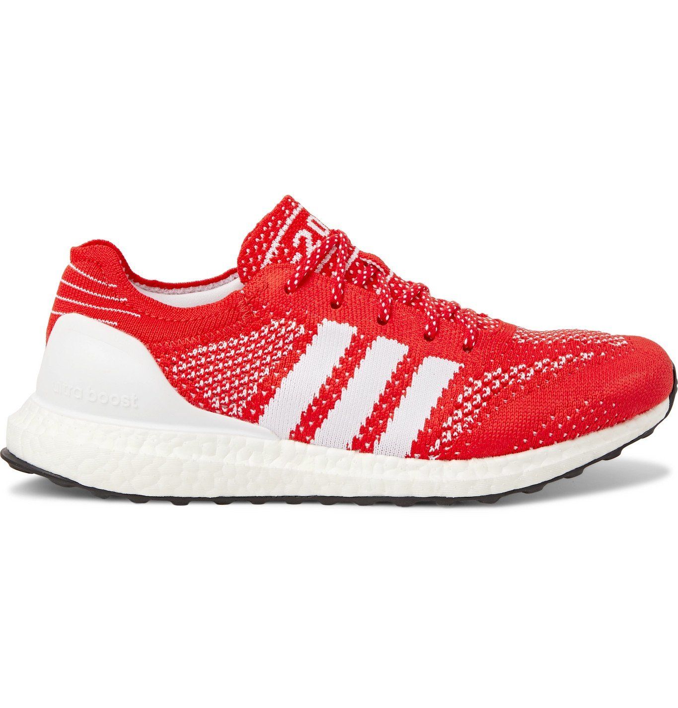 Photo: Adidas Sport - Parley UltraBOOST DNA Prime Rubber-Trimmed Primeknit Running Sneakers - Red