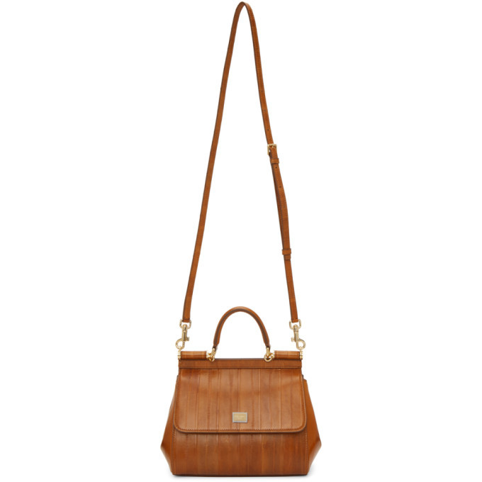 Photo: Dolce and Gabbana Brown Eel Small Sicily Bag