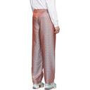 Comme des Garcons Homme Plus Blue and Orange E Pattern Trousers