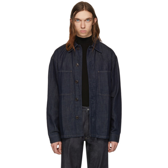 Photo: Lemaire Indigo Denim Overshirt Jacket