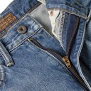 KAPITAL - Distressed Appliquéd Denim Shorts - Blue