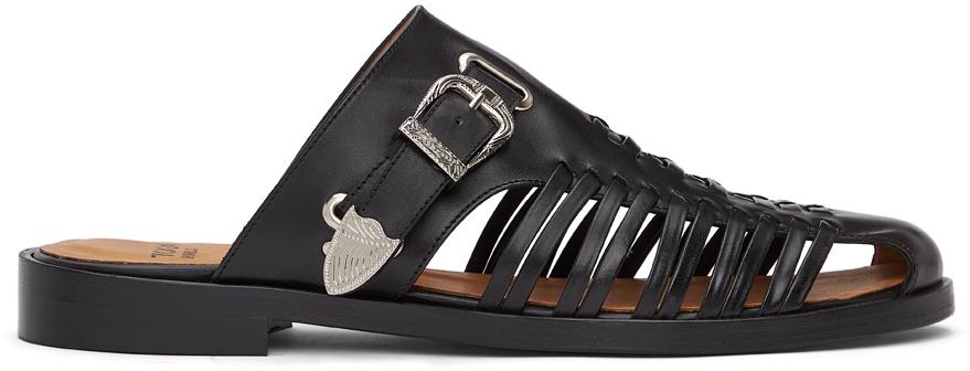 Photo: Toga Virilis Black Leather Slip-On Loafers