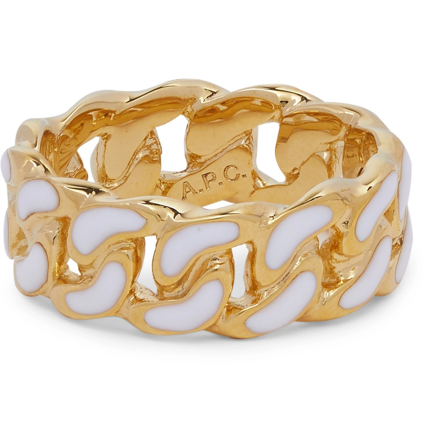 Photo: A.P.C. - Silver-Tone Enamel Ring - Gold