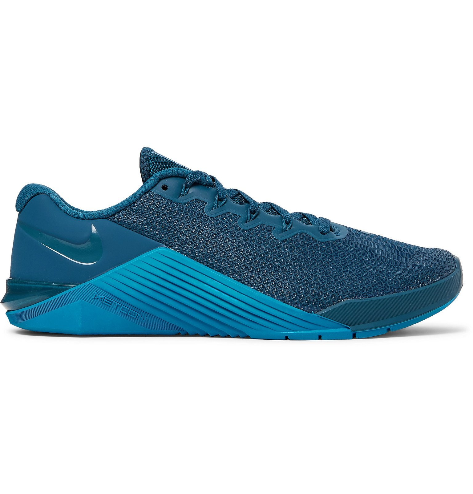 Photo: Nike Training - Metcon 5 Rubber-Trimmed Mesh Sneakers - Blue
