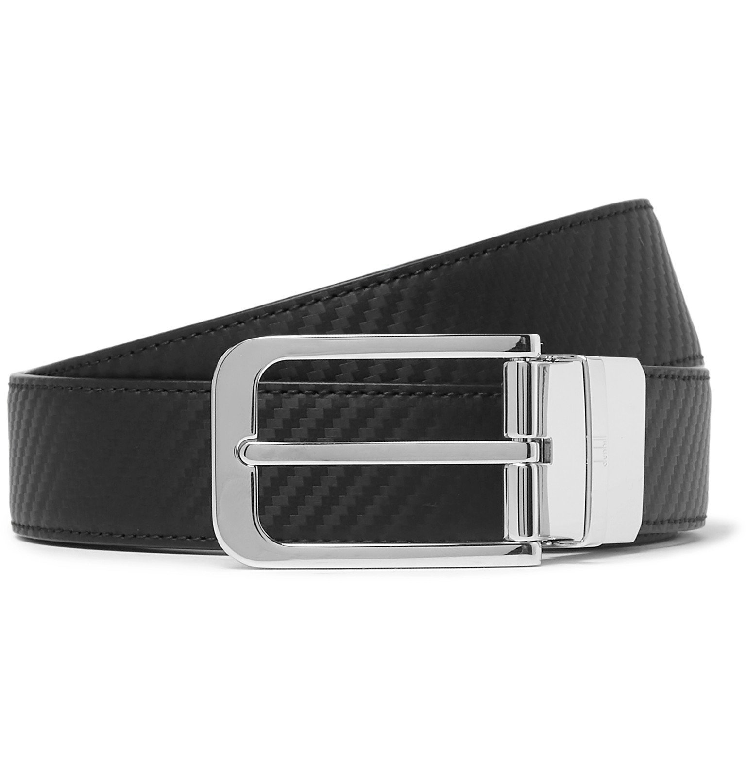 Dunhill - 3cm Black and Brown Reversible Leather Belt - Black
