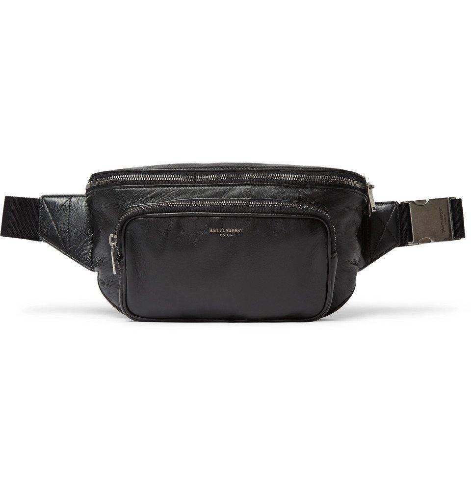 Photo: Saint Laurent - Leather Belt Bag - Black