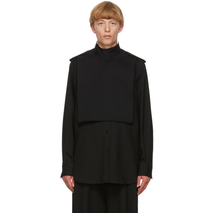 Photo: Jil Sander Black Wool Gabardine Shirt