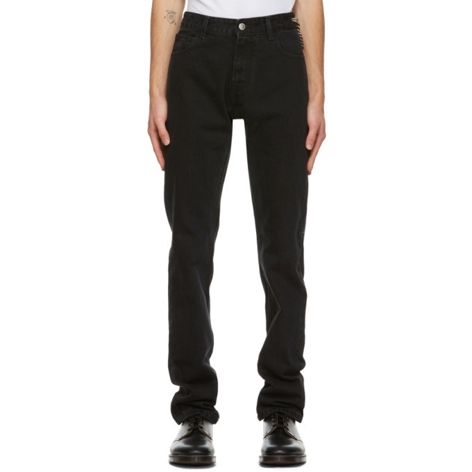 Photo: Raf Simons Black Denim Zipper Jeans