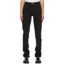 Raf Simons Black Denim Zipper Jeans