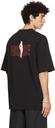 Martine Rose Black Oversized Archive Brittle T-Shirt
