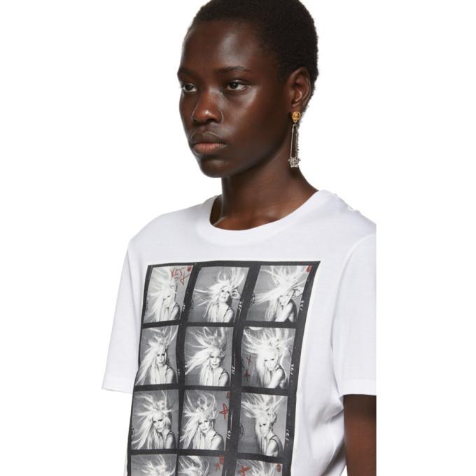 Versace White Richard Avedon Edition Polaroid T-Shirt