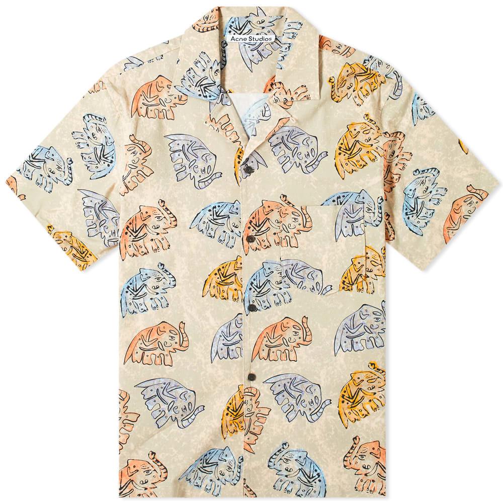 Acne Studios Simon Elephant Print Vacation Shirt