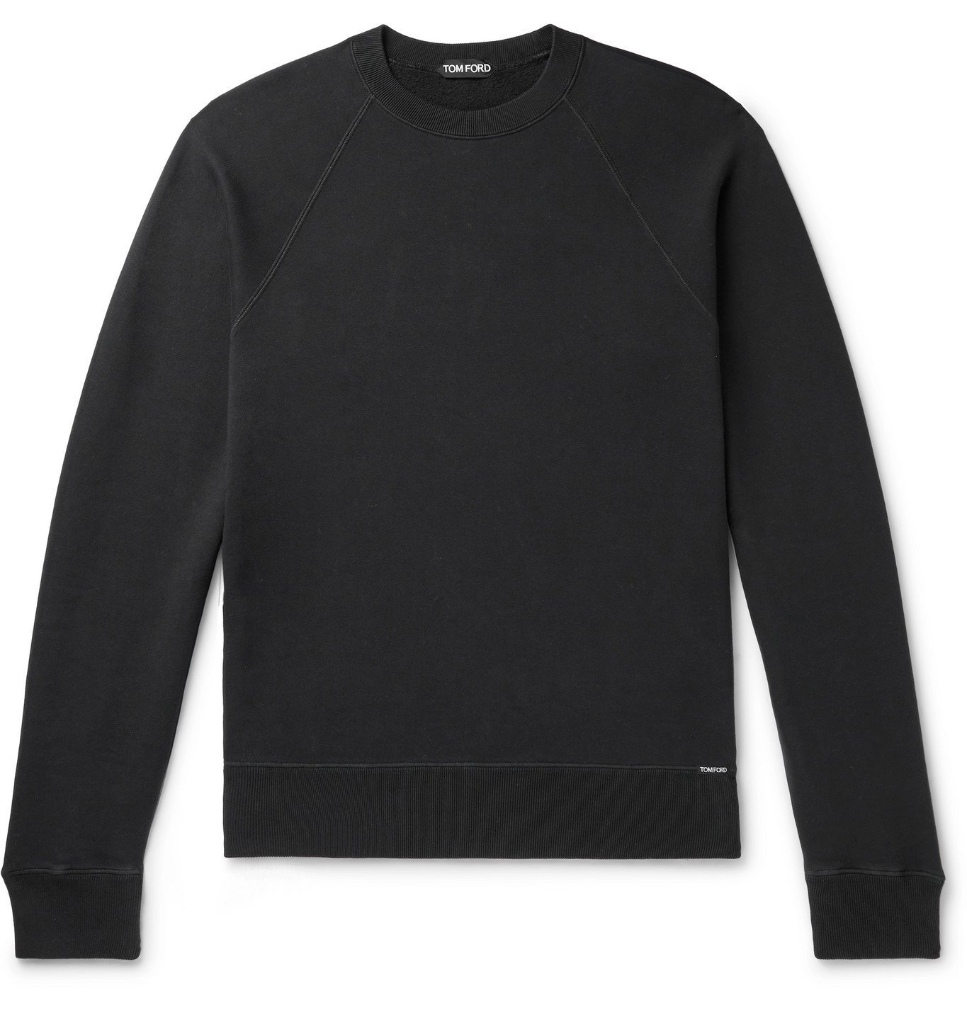 Photo: TOM FORD - Fleece-Back Cotton-Jersey Sweatshirt - Black