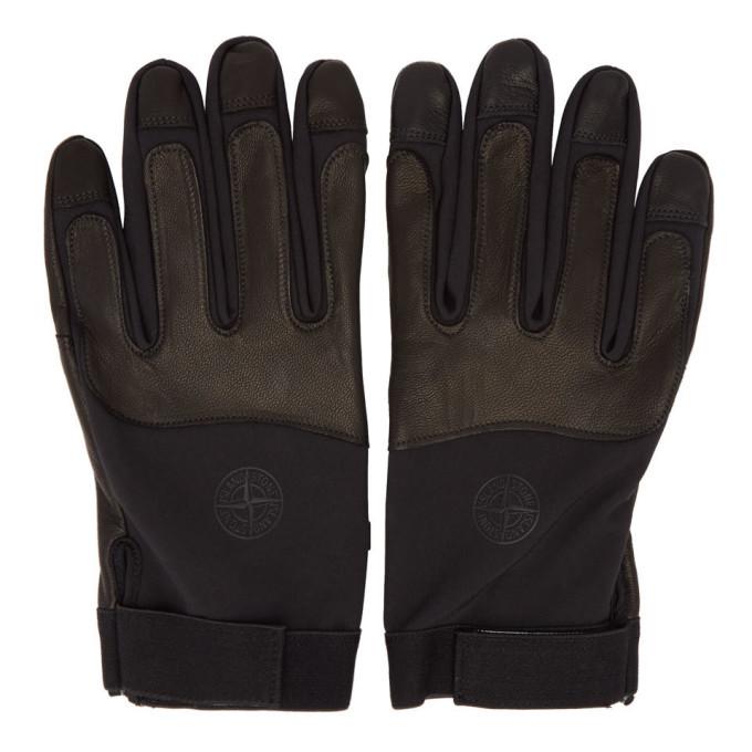Photo: Stone Island Black Soft Shell-R Gloves